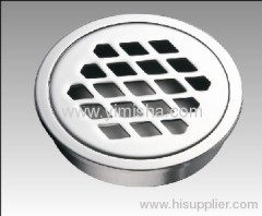 Circular Brass Chrome Plated Floor Drain put directly