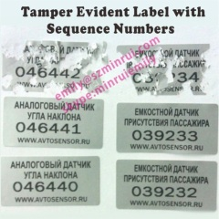 Silver Eggshell Stickers with Sequence Numbers