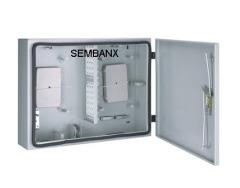 SMB 12/24 core fiber optic wall mounted box