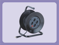 Swiss type extension cable reel with 4 outlets suitable for 20-30m