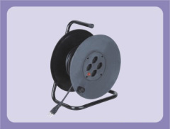 40m 50m swiss type extension cord reel with 4 outlet sockets