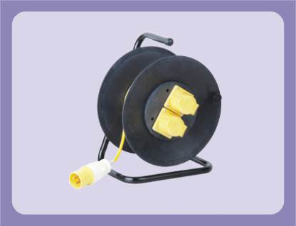 40m 50m INDUSTRIAL USE EXTENSION CABLE REEL WITH 2 OUTLETS FOR 3 ...