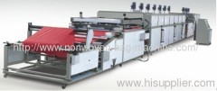 Automatic two color nonwoven fabric screen printing machine