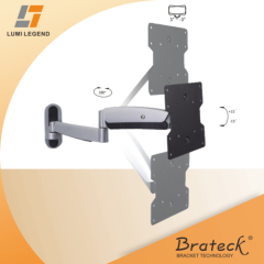 Gas spring structure high quality aluminum TV wall mount bracket