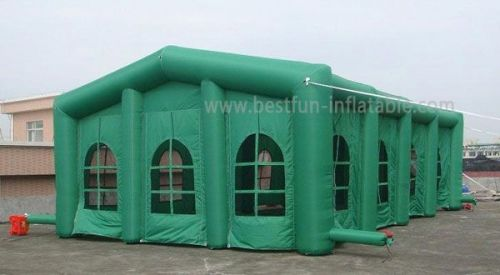 Big Green Inflatable Tent With Removable Door And Windows