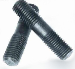 Double-end stud bolt and nuts