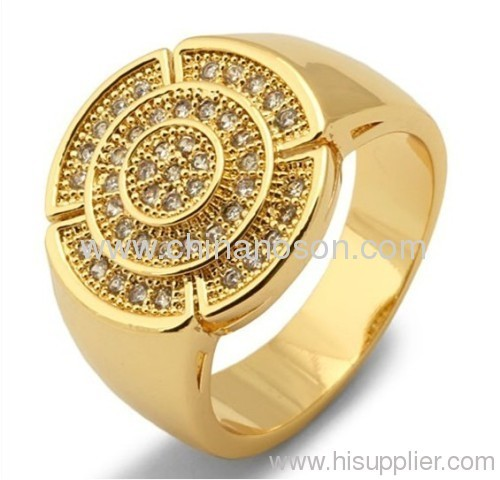 Promotional jewellery alloy ring for men
