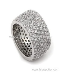Mens cubic zirconia brass jewellery ring