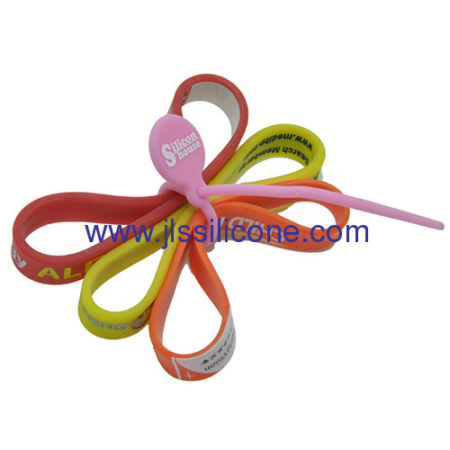 Silicone tying band and reusable twist tie in 2 packs
