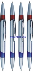 Plastic promotional ballpen with double pen points