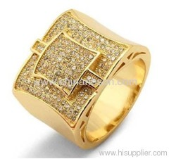 Men gemstone copper jewellery ring