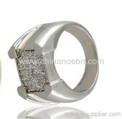 CZ diamond rings for wedding