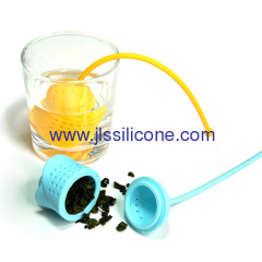 Rose shape silicone tea infuser strainer and tea bag