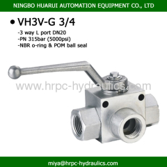 three way hydraulic L port high pressure carbon steel ball valves made in china ball valve company