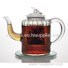 Wholesales Hand Made Heat Resistant Glass Tea Pot Coffee Pots
