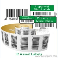 One Time Use Destructible Barcode Label