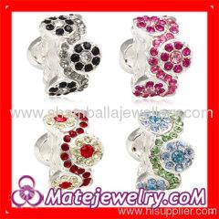 crystal large hole beads