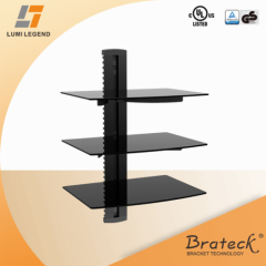 Wall mount DVD bracket
