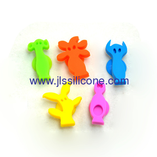 Charming silicone wine glass marker or drink identification