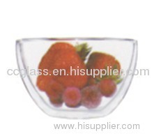 Hand Made Borosilicate Glass Bowl used in kitchen