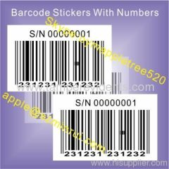 Custom Blank Labels for Barcode Sticker Printer,Anti-counterfeiting Barcode Asset Sticker,Destructible Vinyl Labels
