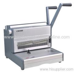 desktop twin loop wire binding machine