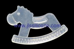 Food contact silicone baby teether in horse shape