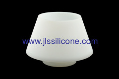Heat resistant silicone lamp shade chimney