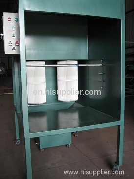 manual powder coating booth in China
