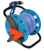 Garden Hose Pipe Reel With 15M 13MM Garden Hose and Nozzle Set
