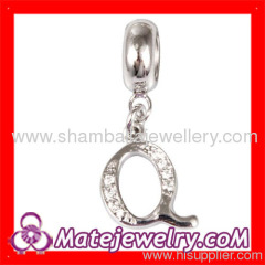 European letter charm beads