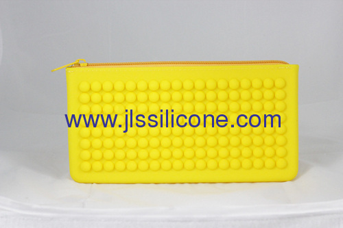 Silicone handy wallet bag with concave convex point
