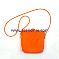 Charming silicone lady's shoulder bag