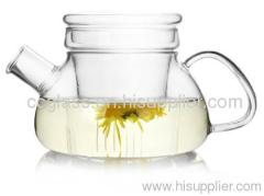 Mouth Blown Elegant Glass Teapots Coffee Pots