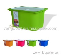 Bright plastic storage box