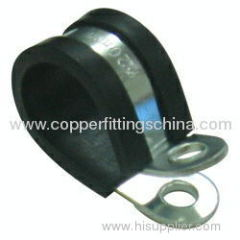 Galvanized Steel With Rubber Cushioned Pipe Clamp