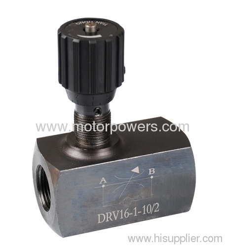 The throttle/Isolating valves threaded connection