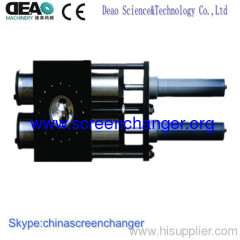 continuous screen changer for plastic pipe extrusion line