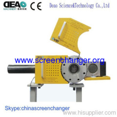 Hydraulic slide plate screen changer DHB series for plastic extruder