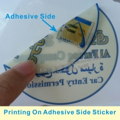 One Time Use Destructive Vinyl Labels For Car Access License
