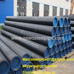 API 5L Steel Pipe With Black Paint and Plastic Cap