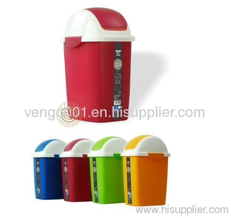 plastic trash bins with lid