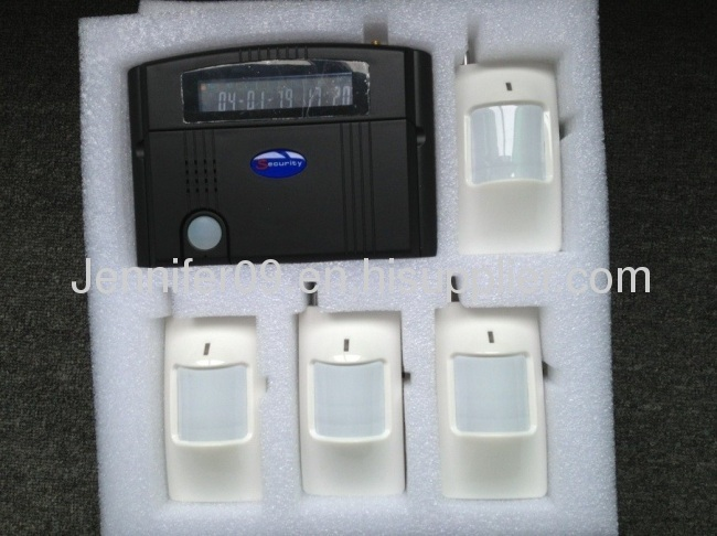 wireless smart security alarm system with lcd diaplay and keypad