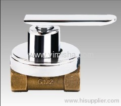 Brass Ceramic Sheet Triangle Valve with Brass (can be zinc) body, brass heart and zinc handle