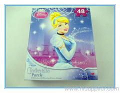 48pcs hot sell Disney Cinderella puzzle
