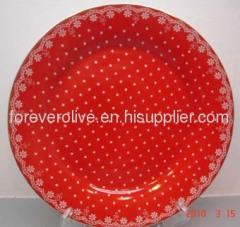 ceramic plate with customer logo