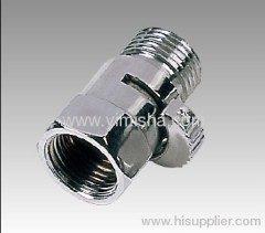 Brass chrome plated ceramic sheet valve with male and female connect