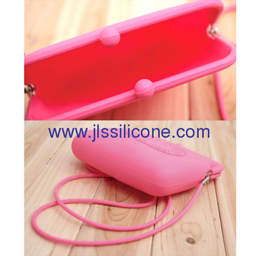 Candy jelly silicone shoulder bag