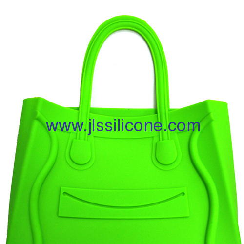 Smile square face silicone shopping hand bag