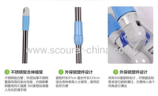 Wet And Dry Microfiber Flat Mop From China Manufacturer